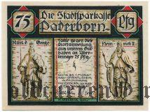 Падерборн (Paderborn), 75 пфеннингов 1921 года