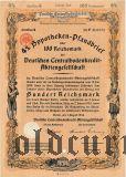 Deutschen Centralbodenkredit, Berlin, 4% Pfandbrief, 100 reichsmark 1934