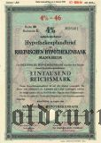 Rheinischen Hypothekenbank, Mannheim, 1000 reichsmark 1940