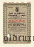 Das Berliner Pfandbrief-Amt, 200 рейхсмарок 1942