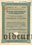 Deutsche Hypothekenbank, Berlin, 8%, 1000 goldmark 1927