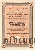 Deutsche Hypothekenbank, Berlin, 4%, 500 goldmark 1940