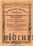 Deutschen Centralbodenkredit, Berlin, 4%, 100 reichsmark 1942