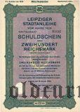 Leipziger Stadtanleihe, 200 reichsmark 1929
