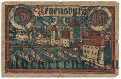 Регенсбург (Regensburg), 50 пфеннингов 1918 года