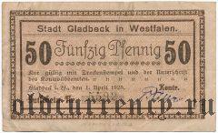 Гладбек (Gladbeck), 50 пфеннингов 1920 года