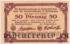 Роттхаузен (Rotthausen), 50 пфеннингов 1917 года
