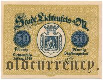 Лихтенфельс (Lichtenfels), 50 пфеннингов 1918 года