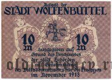 Вольфенбюттель (Wolfenbüttel), 10 марок 1918 года