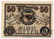 Оксенфурт ( Ochsenfurt), 50 пфеннингов 1919 года