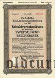 Anleihe des Landes Mecklenburg, 2000 рейхсмарок 1942