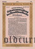 Schatzanweisung des Deutschen Reichs, 100 рейхсмарок 1937