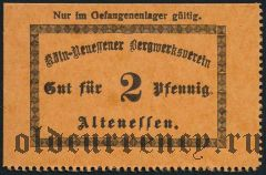 Германия, Altenessen, 2 пфеннинга