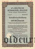 Deutschen Kommunal-Anleihe, 100 reichsmark 1941