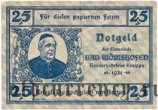 Бад-Вёрисхофен (Bad Wörishofen), 25 пфеннингов 1921 года