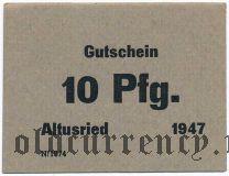 Альтусрид (Altusried), 10 пфеннингов 1947 года