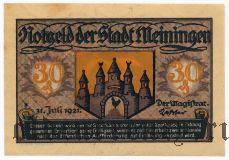 Майнинген (Meiningen), 30 пфеннингов 1921 года