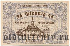 Вольдегк (Woldegk), 25 пфеннингов 1921 года