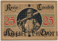 Косфельд (Coesfeld), 25 пфеннингов (1920) года