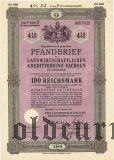 Landwirtschaftlichen Kreditvereins Sachsen, 100 reichsmark 1939