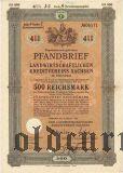 Landwirtschaftlichen Kreditvereins Sachsen, 500 reichsmark 1939
