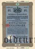 Landwirtschaftlichen Kreditvereins Sachsen, 1000 goldmark 1928