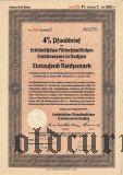 Erblandischen Ritterschaftlichen Creditvereins in Sachsen, 1000 reichsmark 1940
