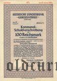 Hessische Landesbank, Darmstadt, 100 reichsmark 1941