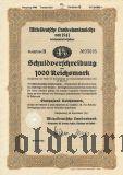 Mitteldeutsche Landesbankanleihe, Magdeburg, 1000 reichsmark 1941