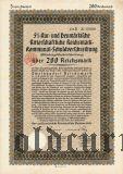 Neumarkische Ritterschaftliche, 200 reichsmark 1930