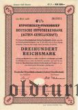 Deutsche Hypothekenbank, Berlin, 300 reichsmark 1940