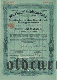Preussische Central-Bodenkredit, Berlin, 2000 goldmark 1929