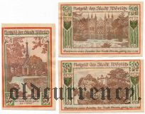 Вёрлиц (Wörlitz), 3 нотгельда 1922 года