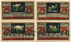 Бад-Зудероде (Bad Suderode), 4 нотгельда 1921 года