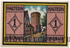 Хальтерн (Haltern), 1 марка 1921 года