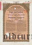Leipziger Hypothekenbank, Leipzig, 8% iger Gold Pfandbrief, 500 goldmark 1928