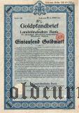 Landstandischen Bank, Bautzen, 1000 goldmark 1928