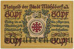 Мюльдорф (Mühldorf), 80 пфеннингов 1922 года
