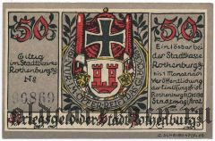 Ротенбург (Rotenburg), 50 пфеннингов 1918 года