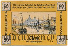 Клеве (Cleve), 50 пфеннингов 1921 года. Вар. 1