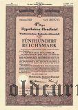 Westdeutschen Bodenkreditanstalt in Köln, 500 reichsmark 1940