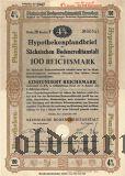 Sachsischen Bodencreditanstalt, 4%, 100 goldmark 1940