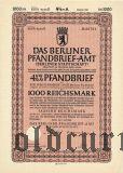 Das Berliner Pfandbrief-Amt, 1000 рейхсмарок 1940