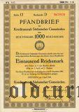 Kreditanstalt Sachsischer Gemeinden, 1000 reichsmark 1943