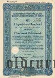 Rheinisch-Westfalische Boden-Credit-Bank in Koln, 4%, 1000 рейхсмарок 1942