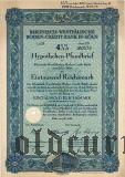 Rheinisch-Westfalische Boden-Credit-Bank in Koln, 4 1/2%, 1000 рейхсмарок 1938