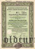 Rheinisch-Westfalische Boden-Credit-Bank in Koln, 4 1/2%, 500 рейхсмарок 1940