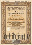 Rheinisch-Westfalische Boden-Credit-Bank in Koln, 4 1/2%, 100 рейхсмарок 1940