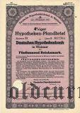 Deutsche Hypothekenbank in Weimar, 5000 reichsmark 1941