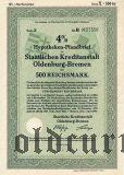 Staatlichen Kreditanstalt Oldenburg-Bremen, 500 reichsmark 1942